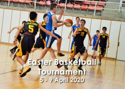 Easter basketball tournament – 5 – 9 Avril